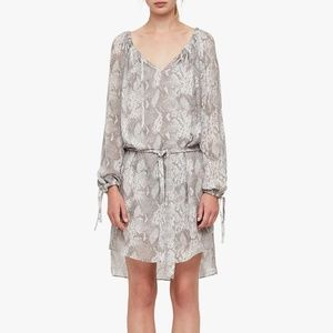 'AllSaints' Chesca Grey Snake Print Dress (XS)